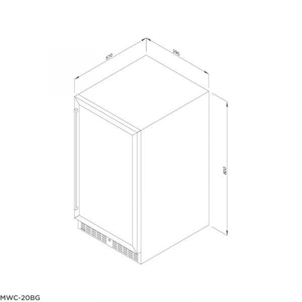 Tủ bảo quản rượu âm tủ/độc lập MWC-20BG