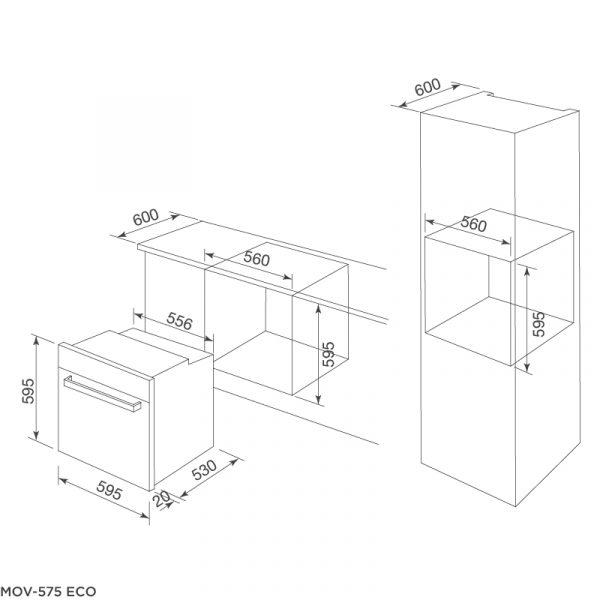 Thông số kỹ thuật lò nướng MOV 575 ECO