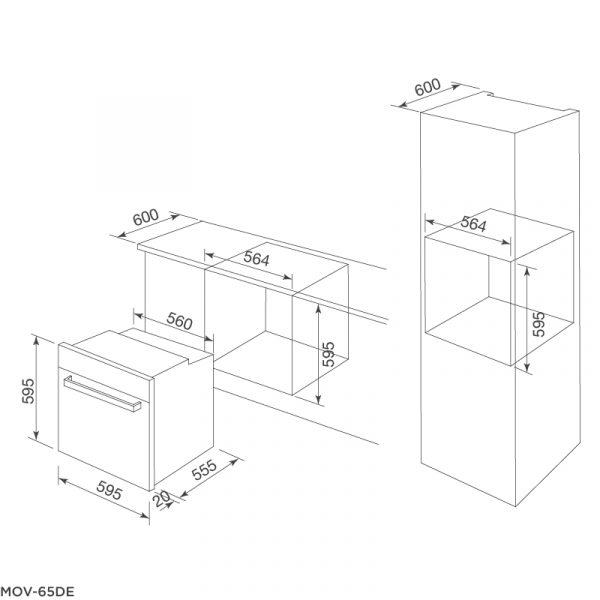 Thông số kỹ thuật lò nướng MOV 65DE
