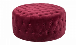 Đôn Rialto vải nhung màu đỏ