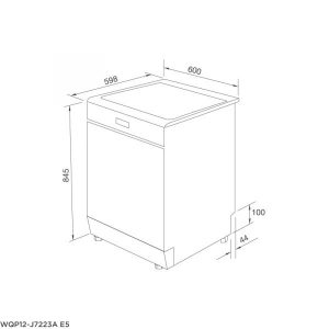Bản vẽ kỹ thuật Máy rửa chén đứng độc lập WQP12-J7223A E5