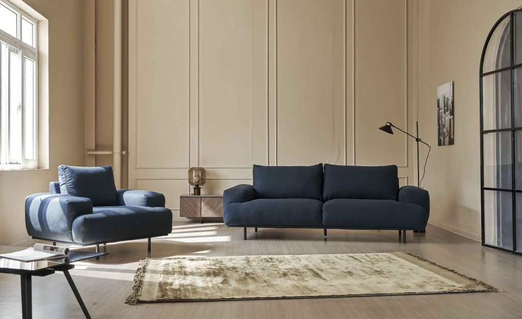 Sofa Arlington vải - phối cảnh
