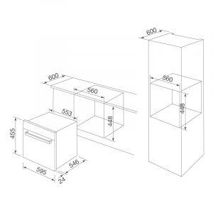 Kích thước Lò nướng âm tủ MOV-40CP