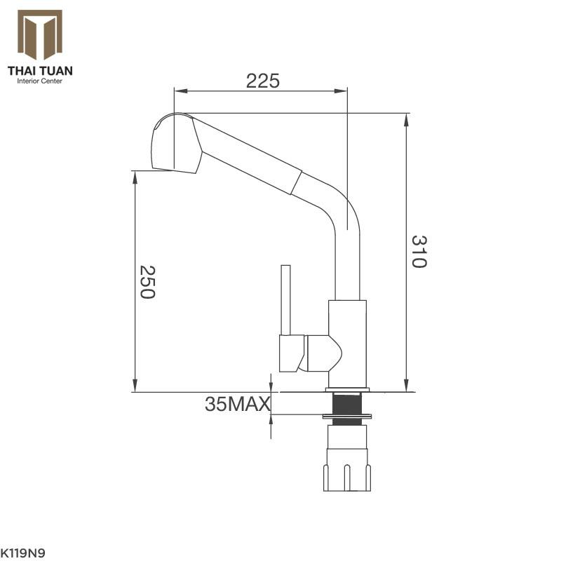 Vòi Rửa Chén Malloca K119-N9
