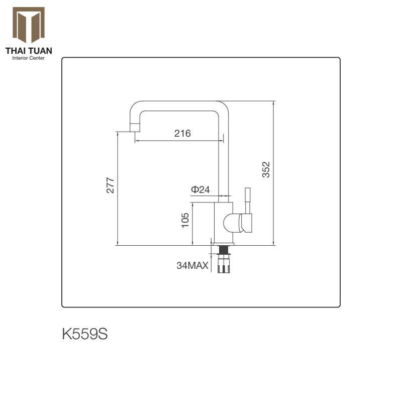 Vòi Rửa Chén Malloca K559-S