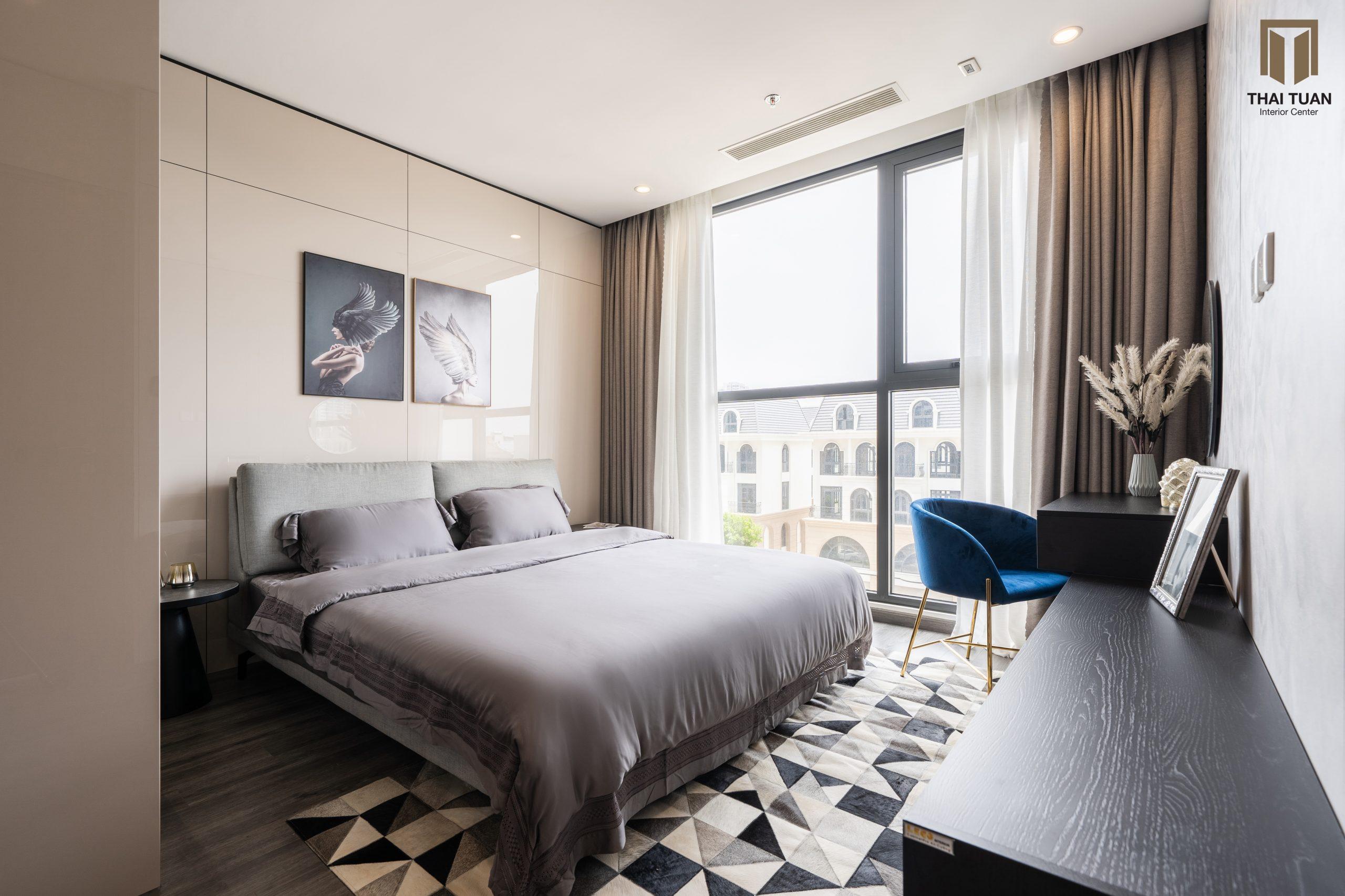 Phòng ngủ với tone màu trung tính