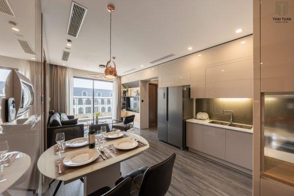 Không gian phòng bếp ăn