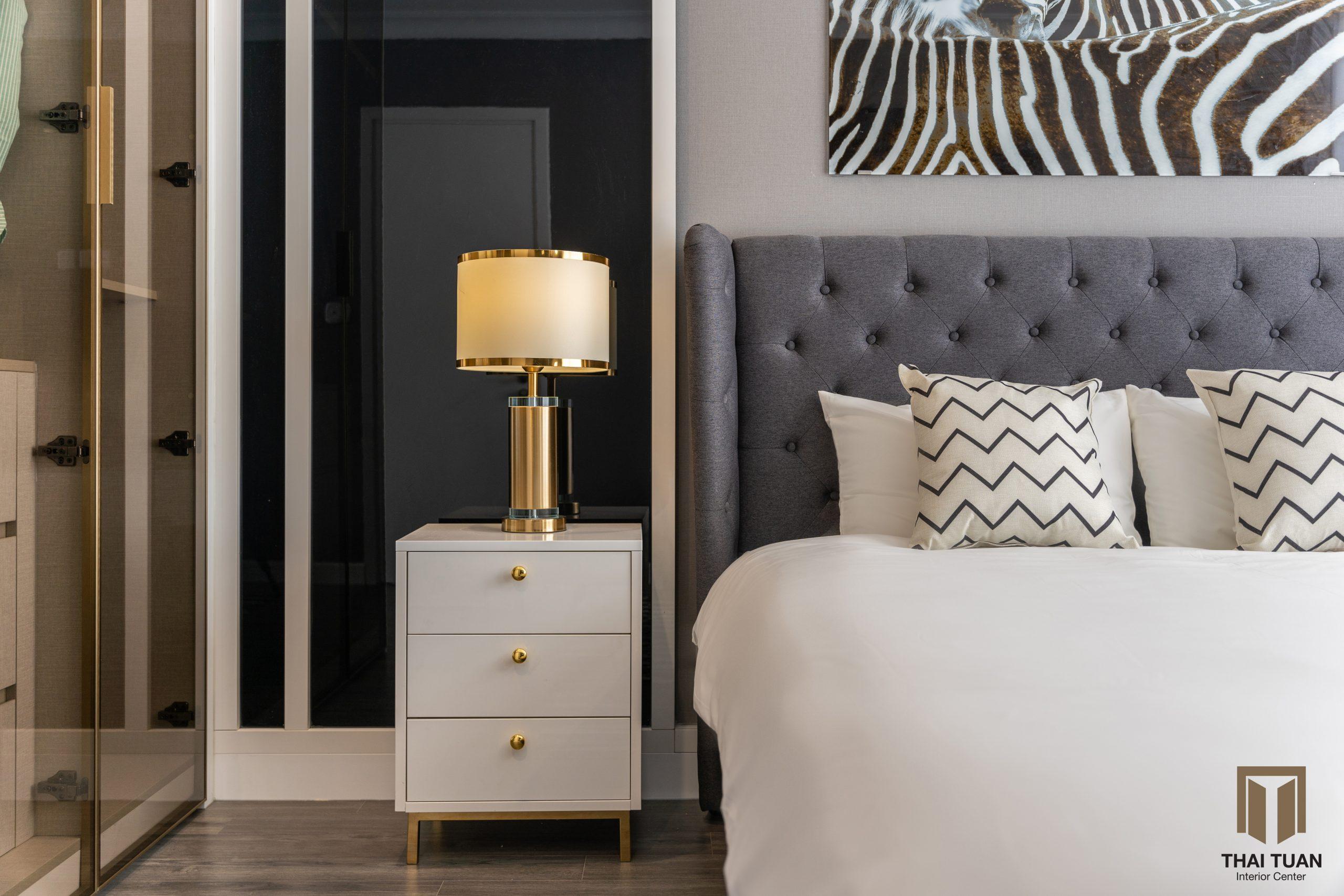 Phòng ngủ master với tone màu sáng hiện đại