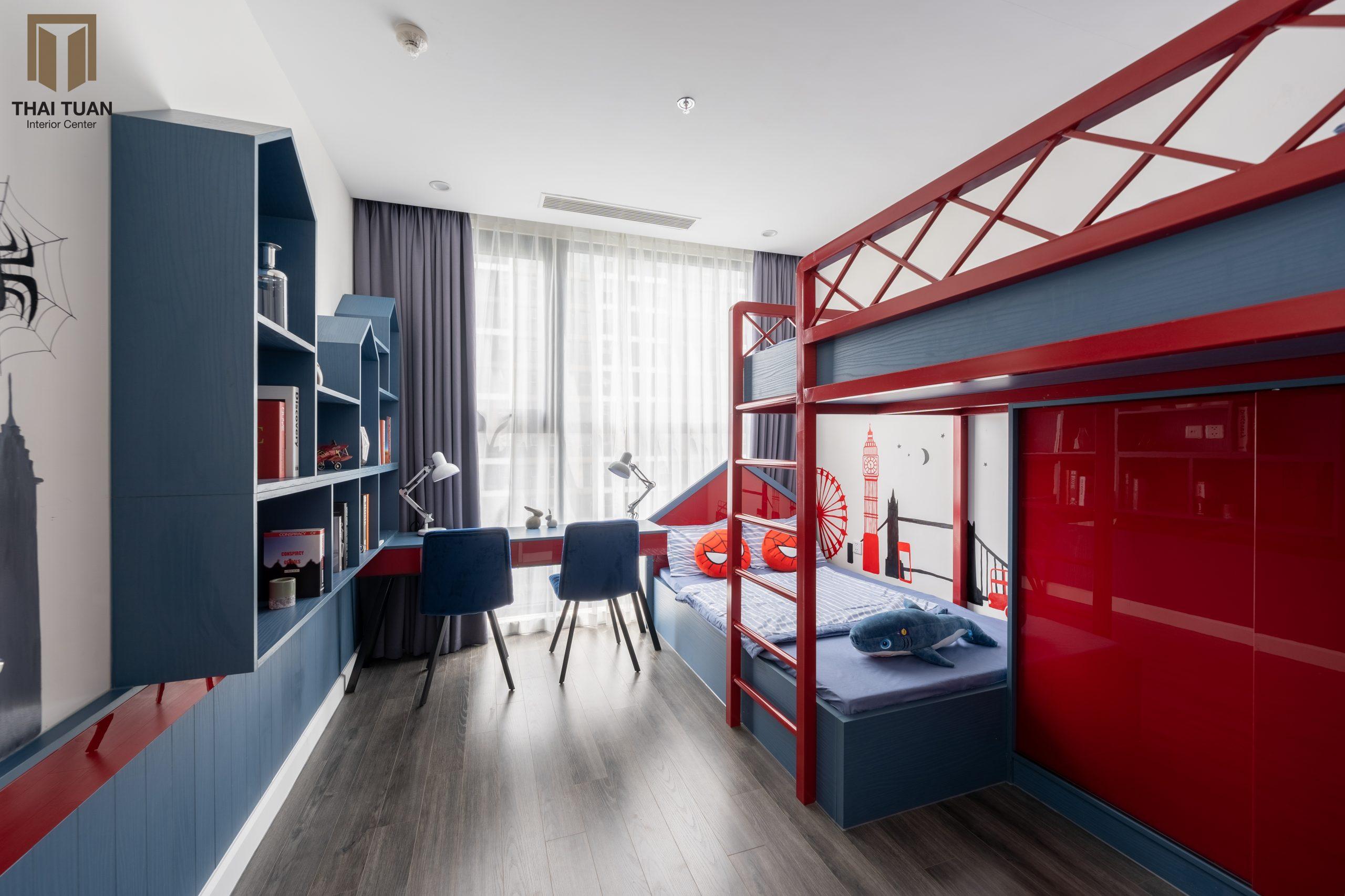 Phòng ngủ con với màu sắc rực rỡ