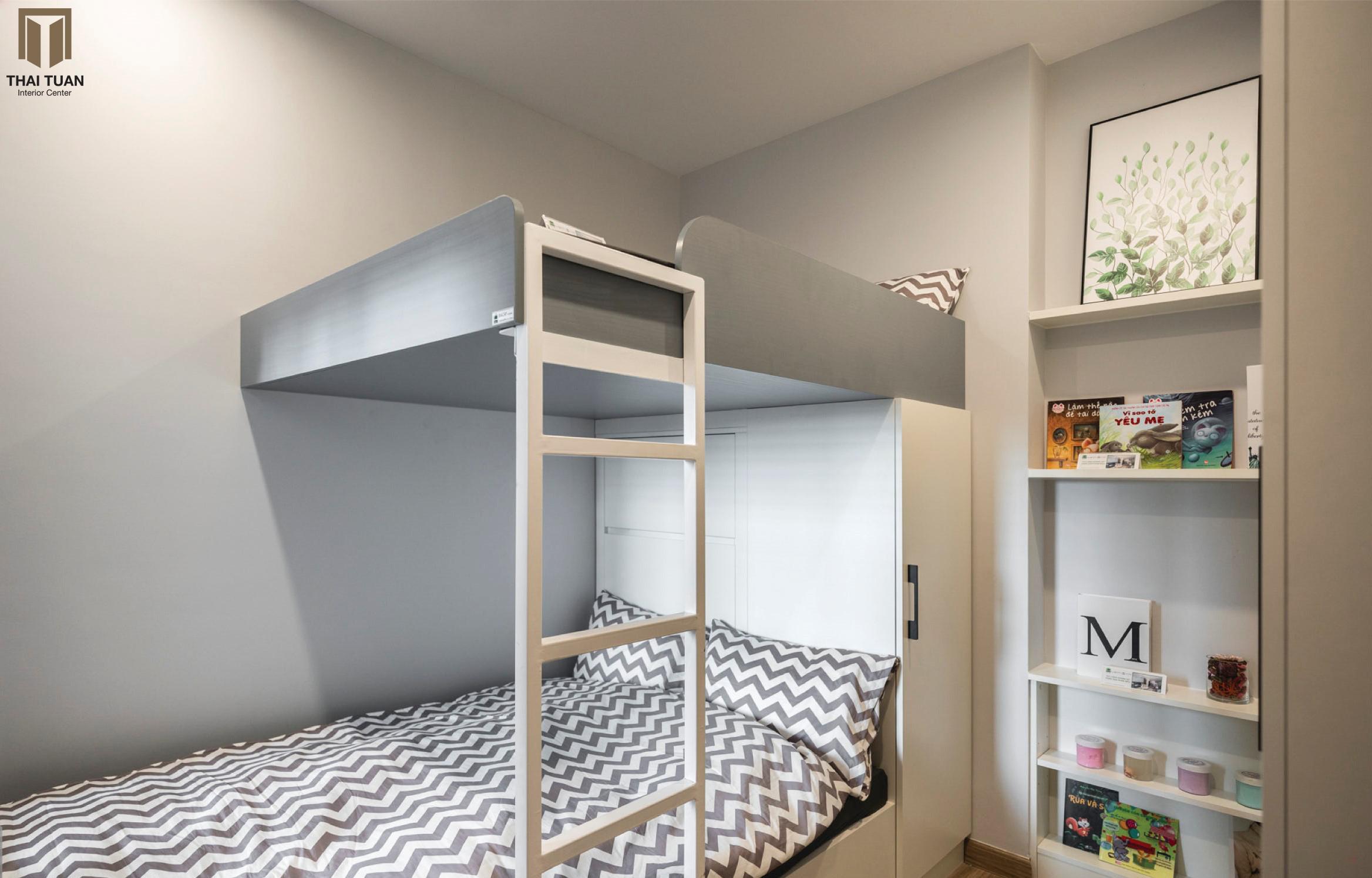 Phòng ngủ với giường tầng có thể đáp ứng cho một gia đình nhỏ
