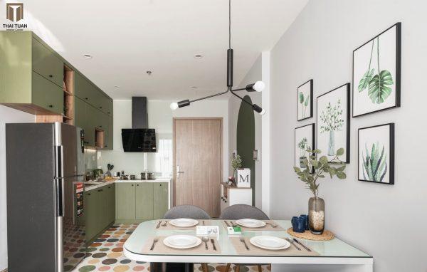 Không gian căn hộ 2 phòng ngủ có thể đáp ứng nhu cầu cho cặp đôi hoặc 1 gia đình nhỏ
