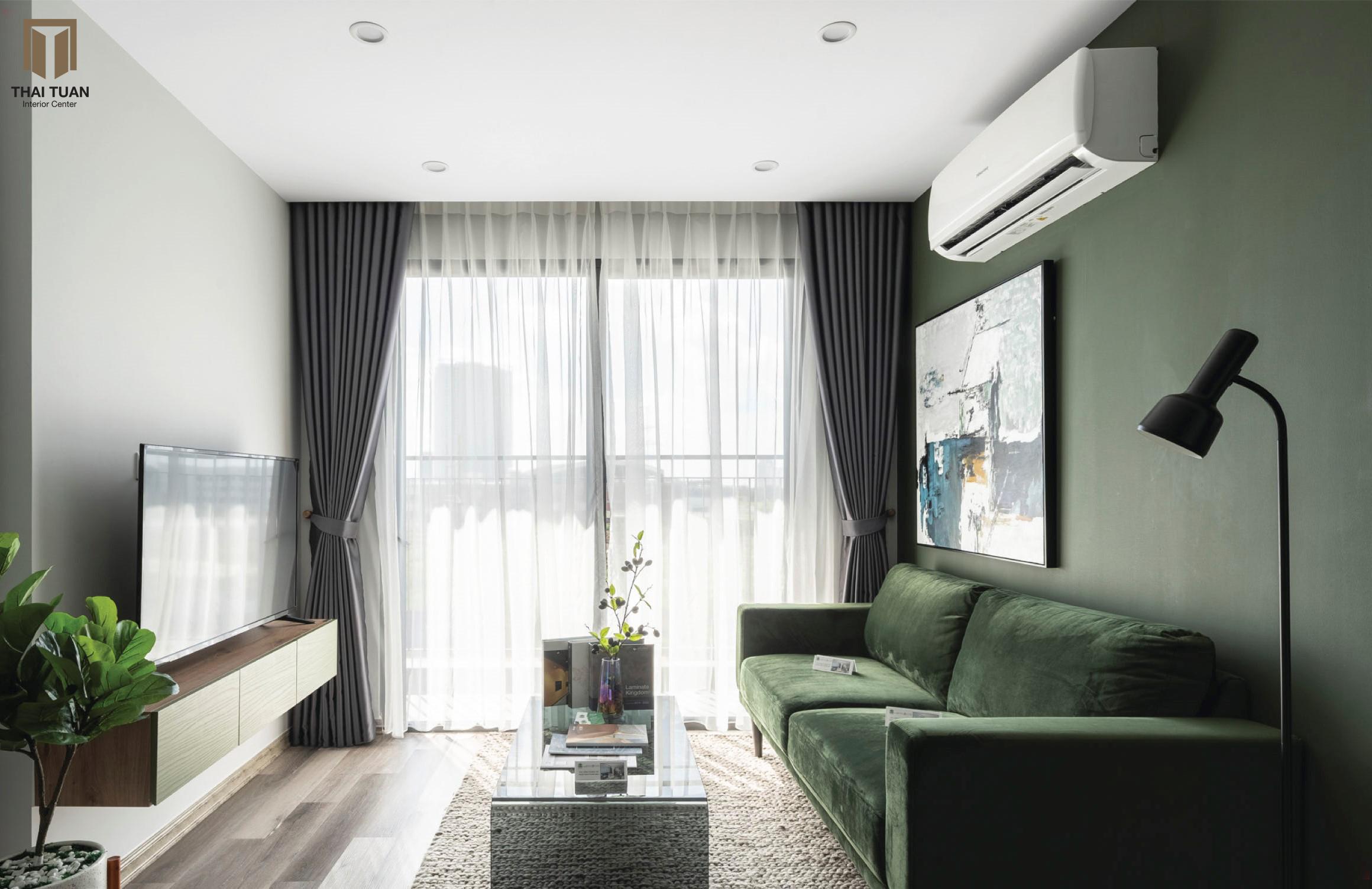 Không gian phòng khách chan hòa ánh sáng tự nhiên