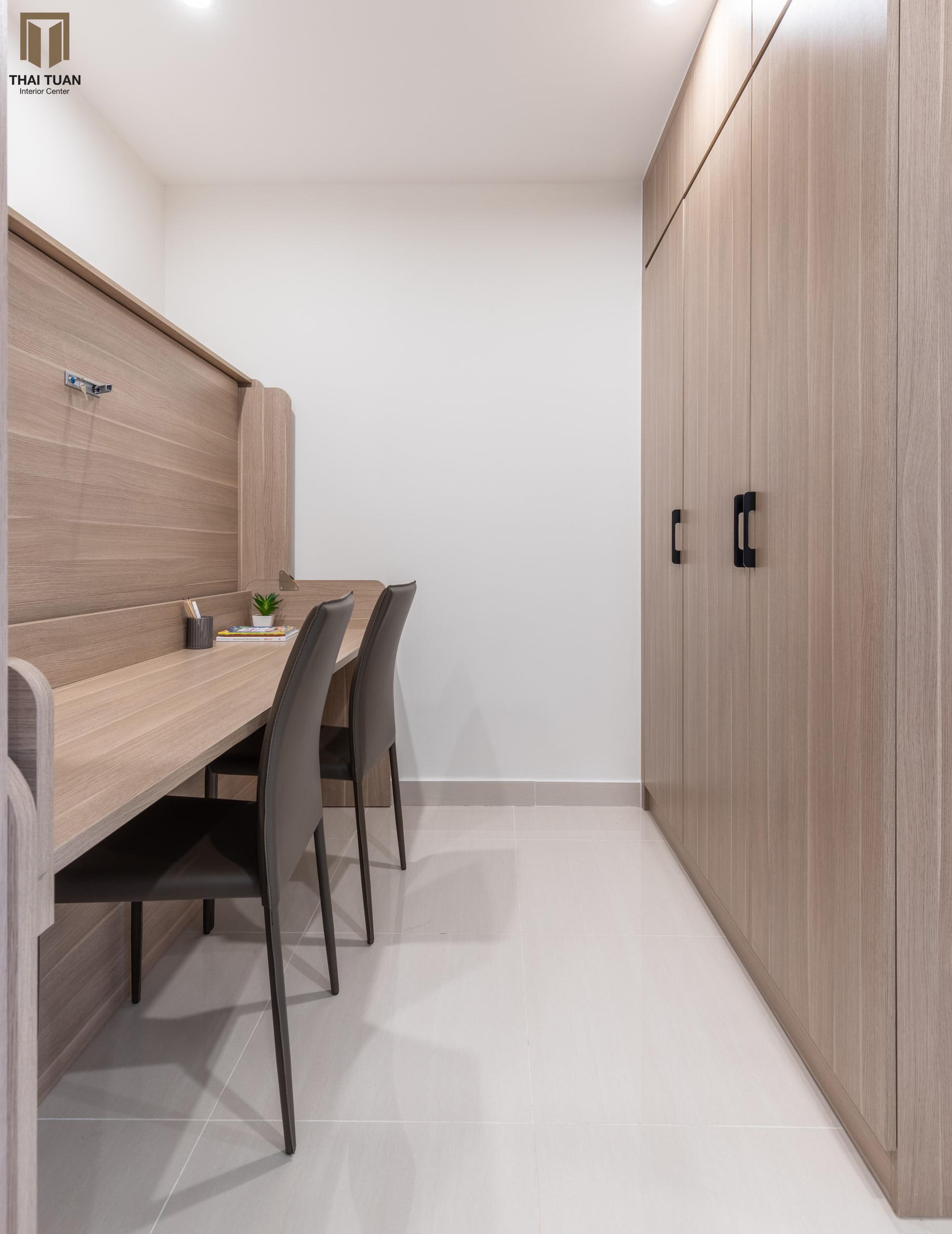 Không gian làm việc riêng tư được kết hợp với phụ kiện thông minh