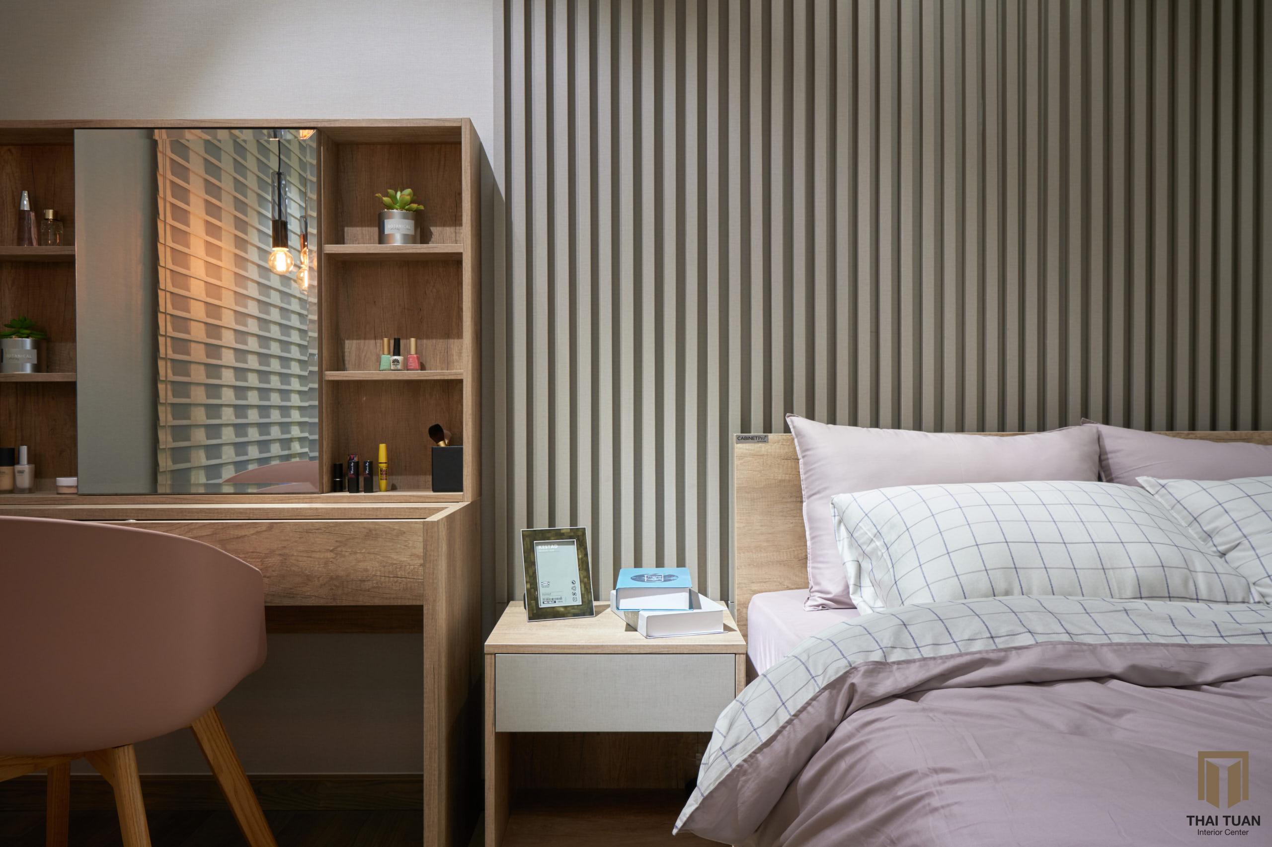 Phòng ngủ master ấm cúng, tiện nghi