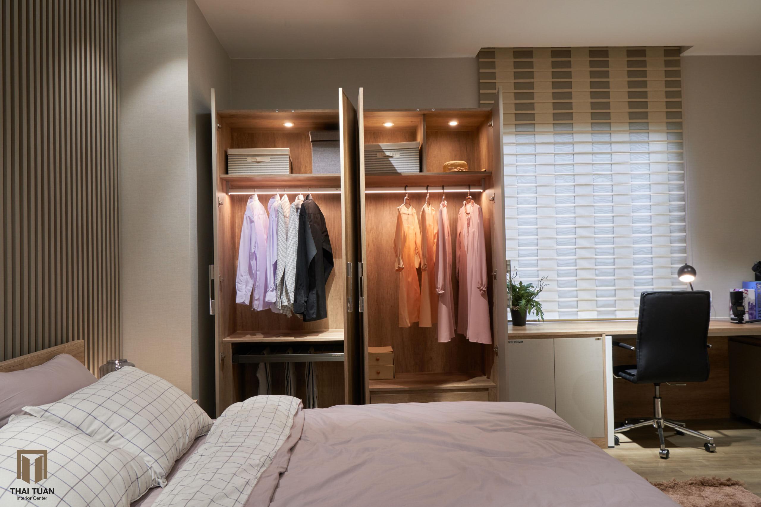 Không gian phòng ngủ tiện nghi