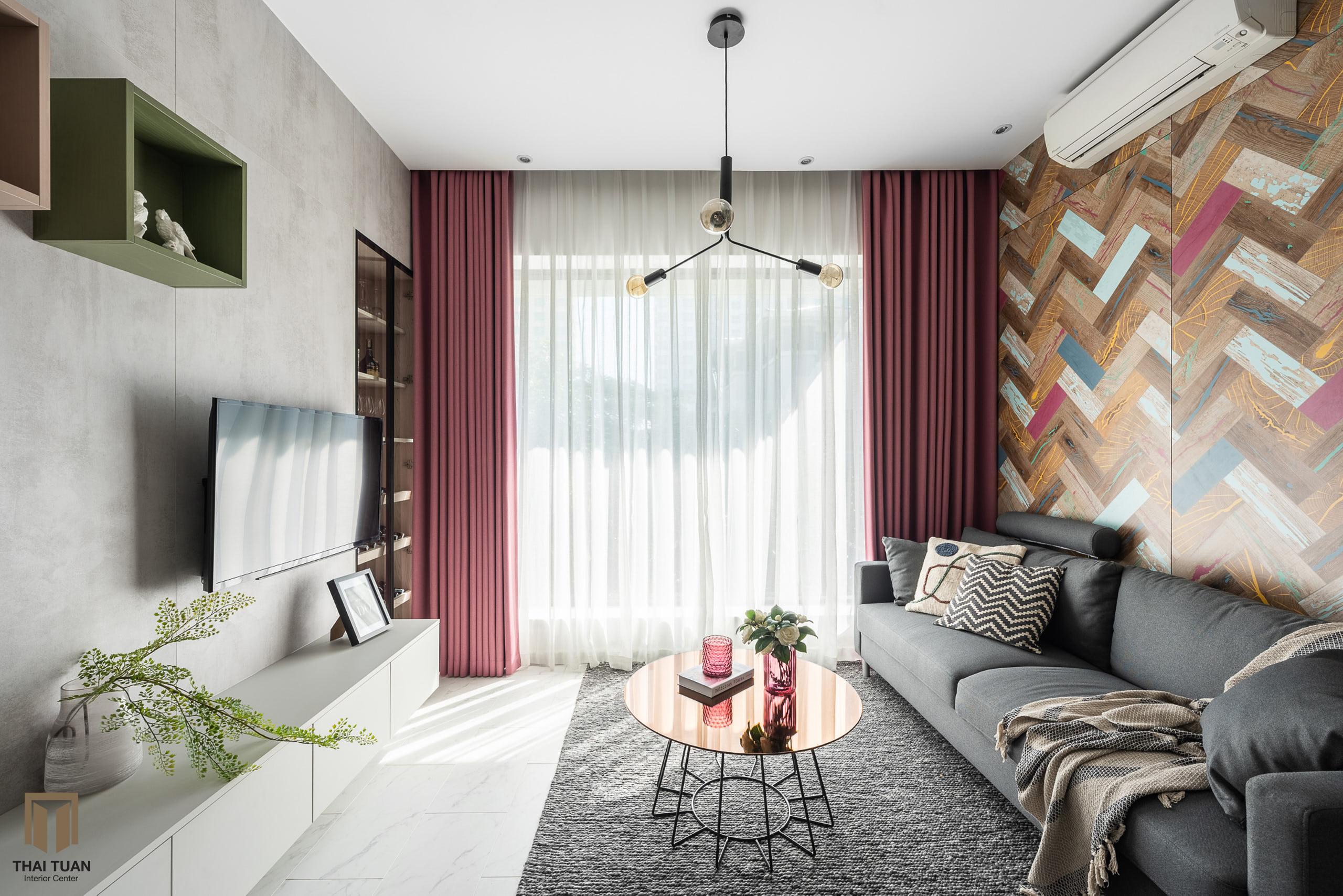Phòng khách chan hòa ánh sáng