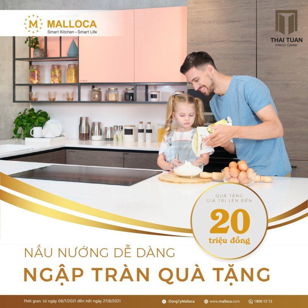 Ưu đãi khủng lên đến 20 triệu đồng khi mua thiết bị bếp Malloca