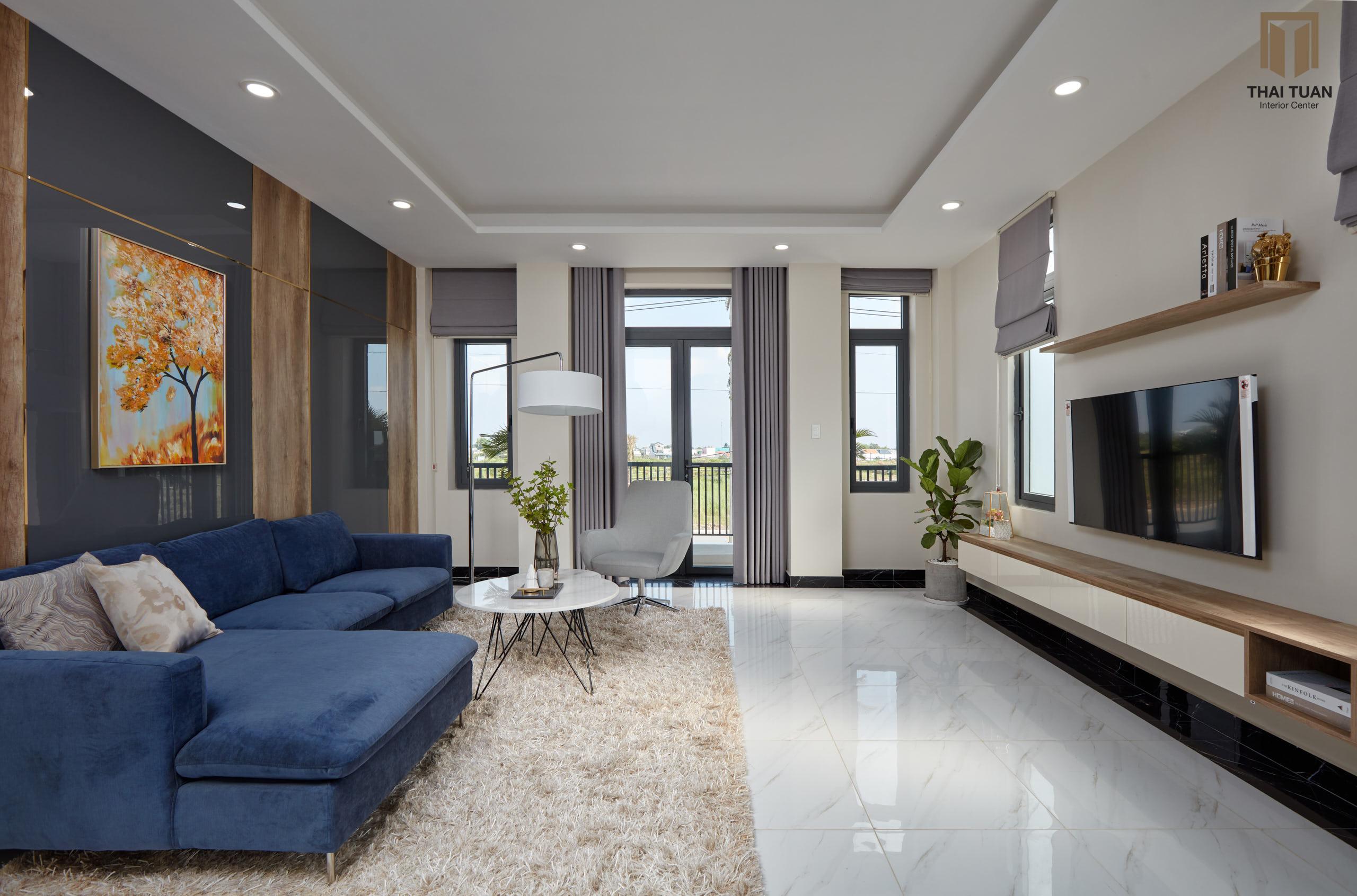 Phòng khách ngập tràn ánh sáng tự nhiên