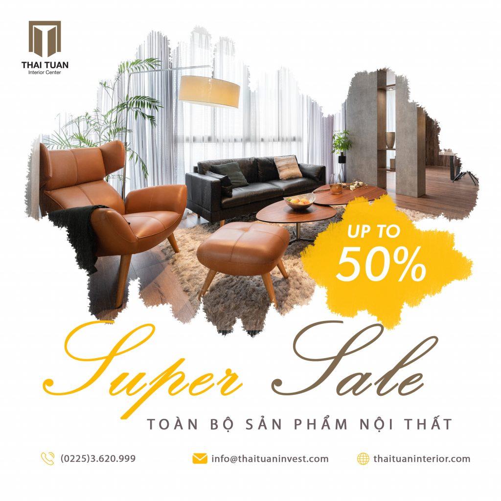 Sale up to 50% toàn bộ sản phẩm nội thất