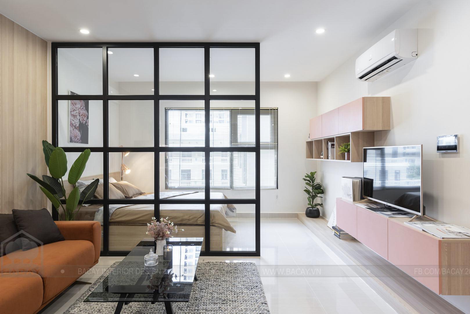Phòng khách căn hộ Studio