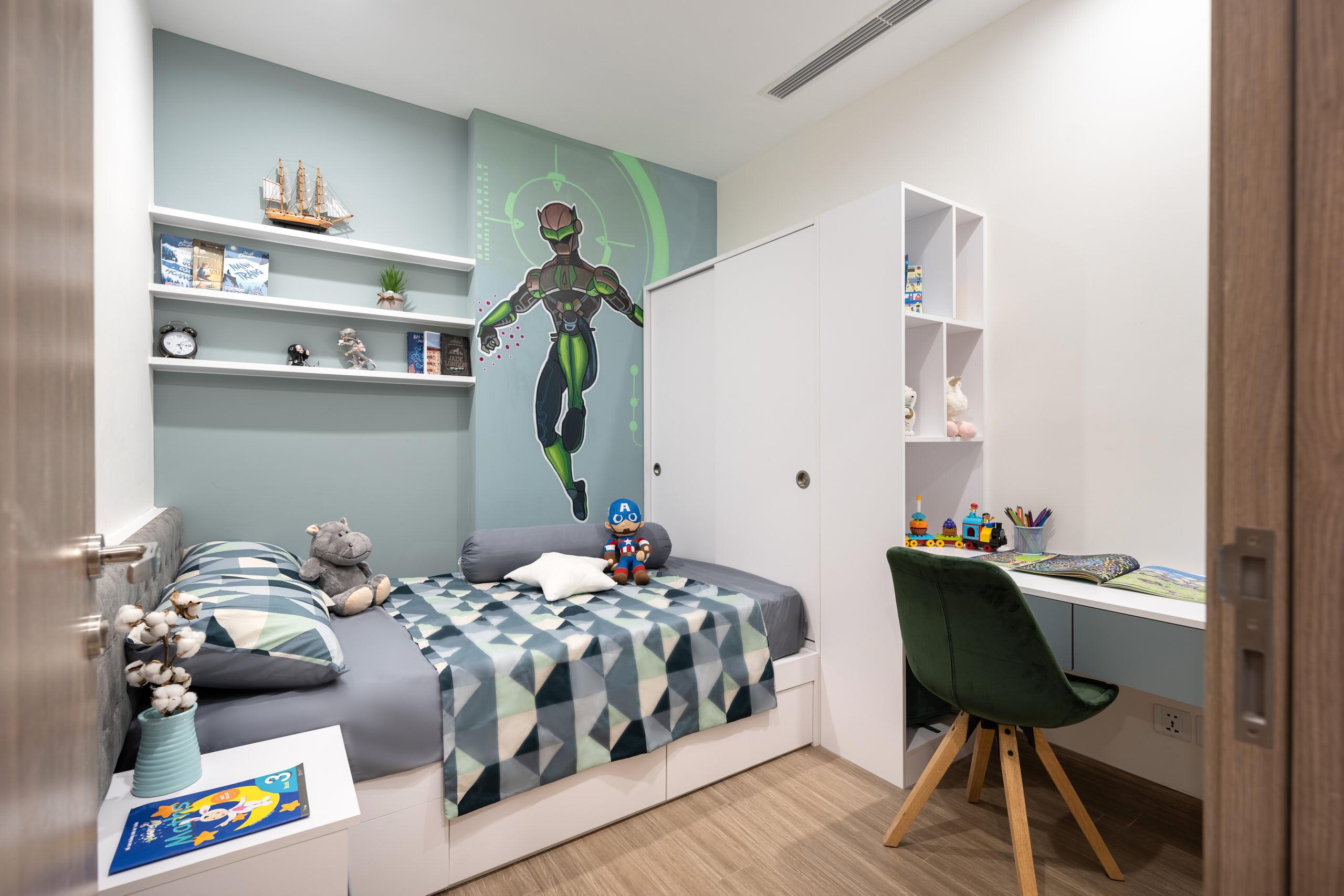 Phòng ngủ năng động cho con