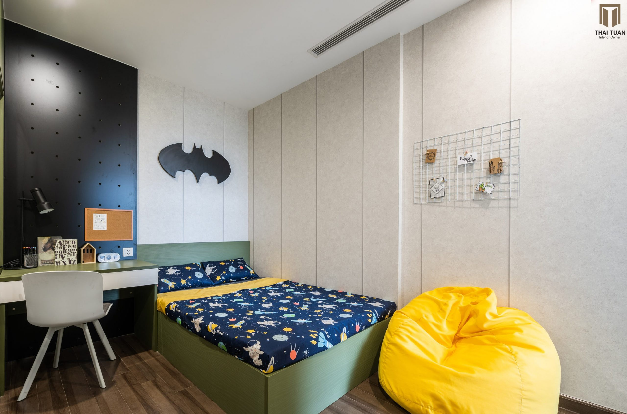 Phòng ngủ cho con với màu sắc rực rỡ