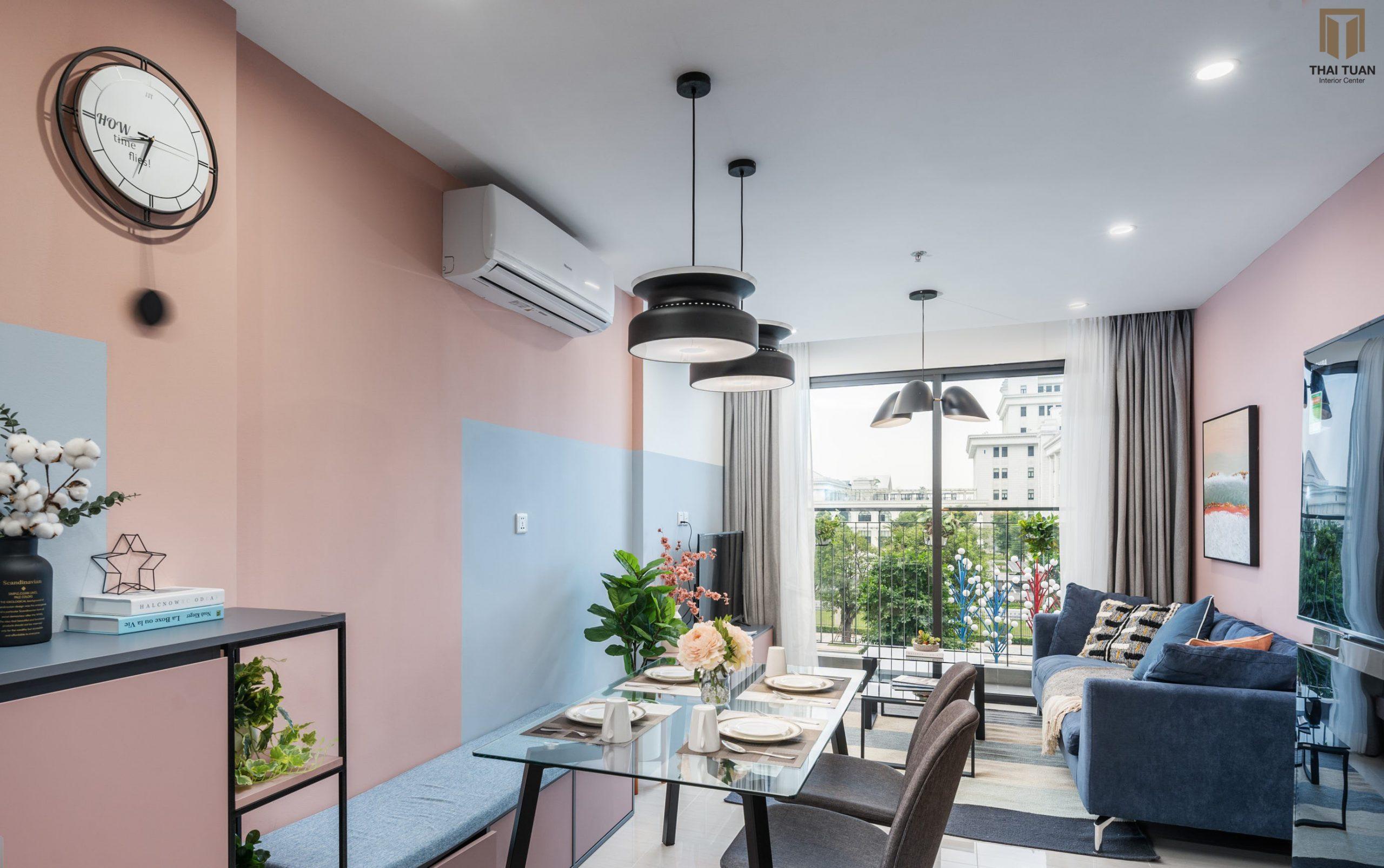Phòng ăn với điểm nhấn màu sắc độc đáo