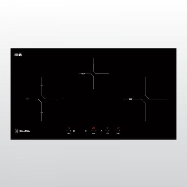 Bếp kính âm 2 từ và 1 điện MH-03IR N