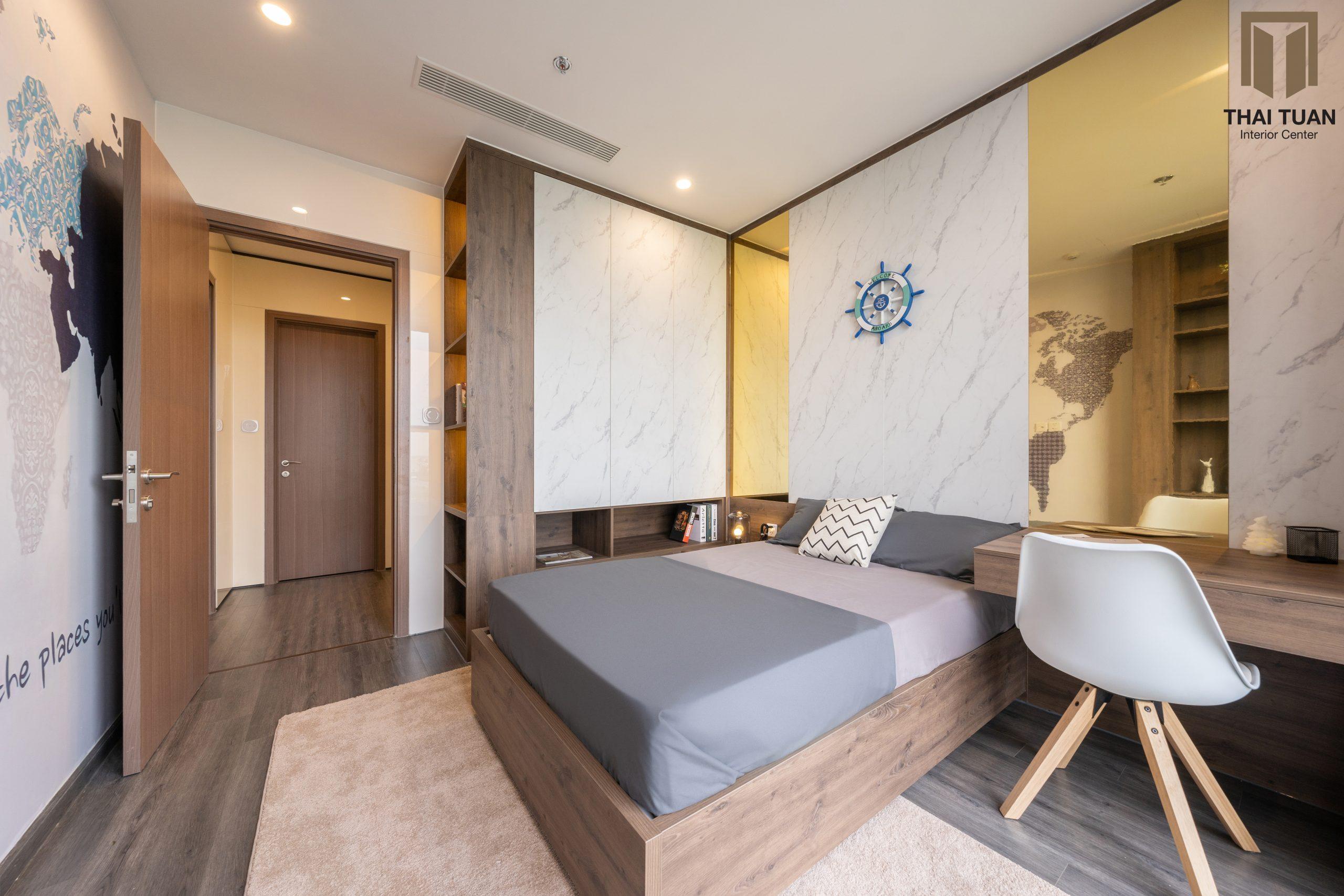 Phòng ngủ cho con với thiết kế tối giản