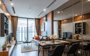 Phòng khách ăn tinh tế chan hòa ánh sáng tự nhiên