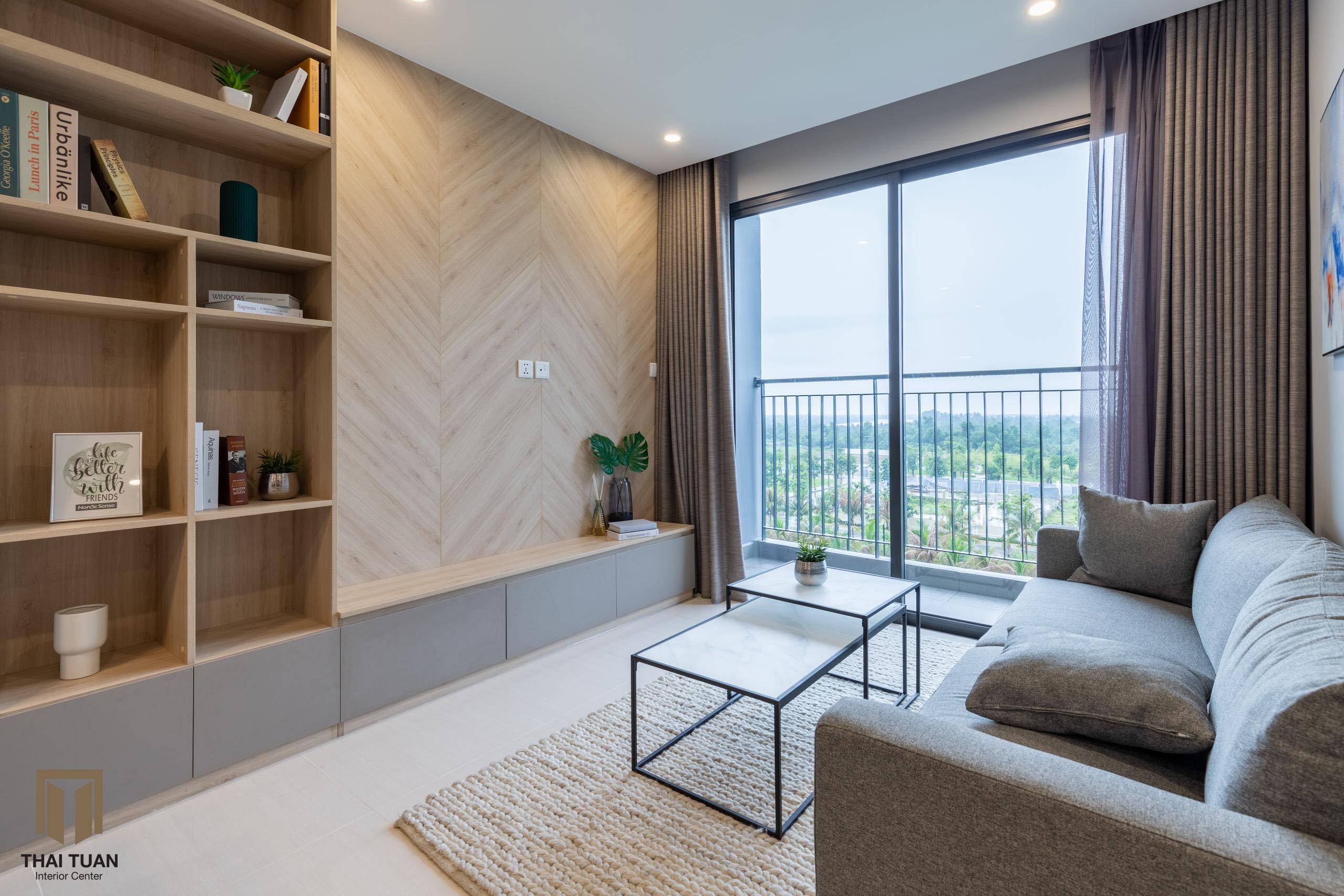 Không gian phòng khách tối giản