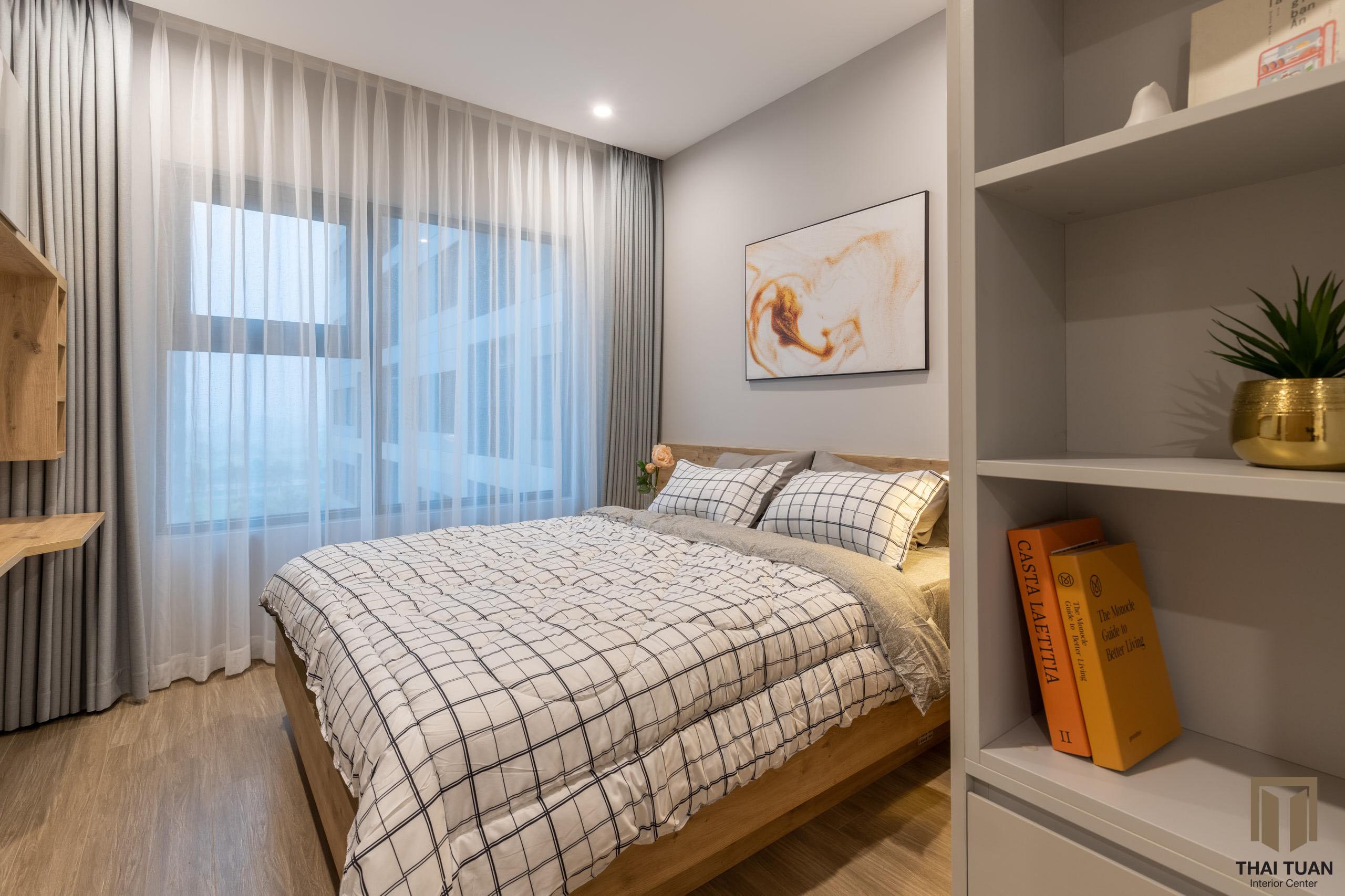 Phòng ngủ ấm cúng, tiện nghi