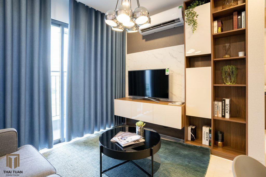 Kệ TV thiết kế theo khối, ứng dụng sản phẩm CabinetPro An Cuờng