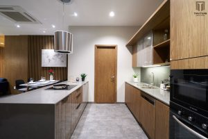 Hút mùi treo được với thiết kế tối giản, decor cho không gian