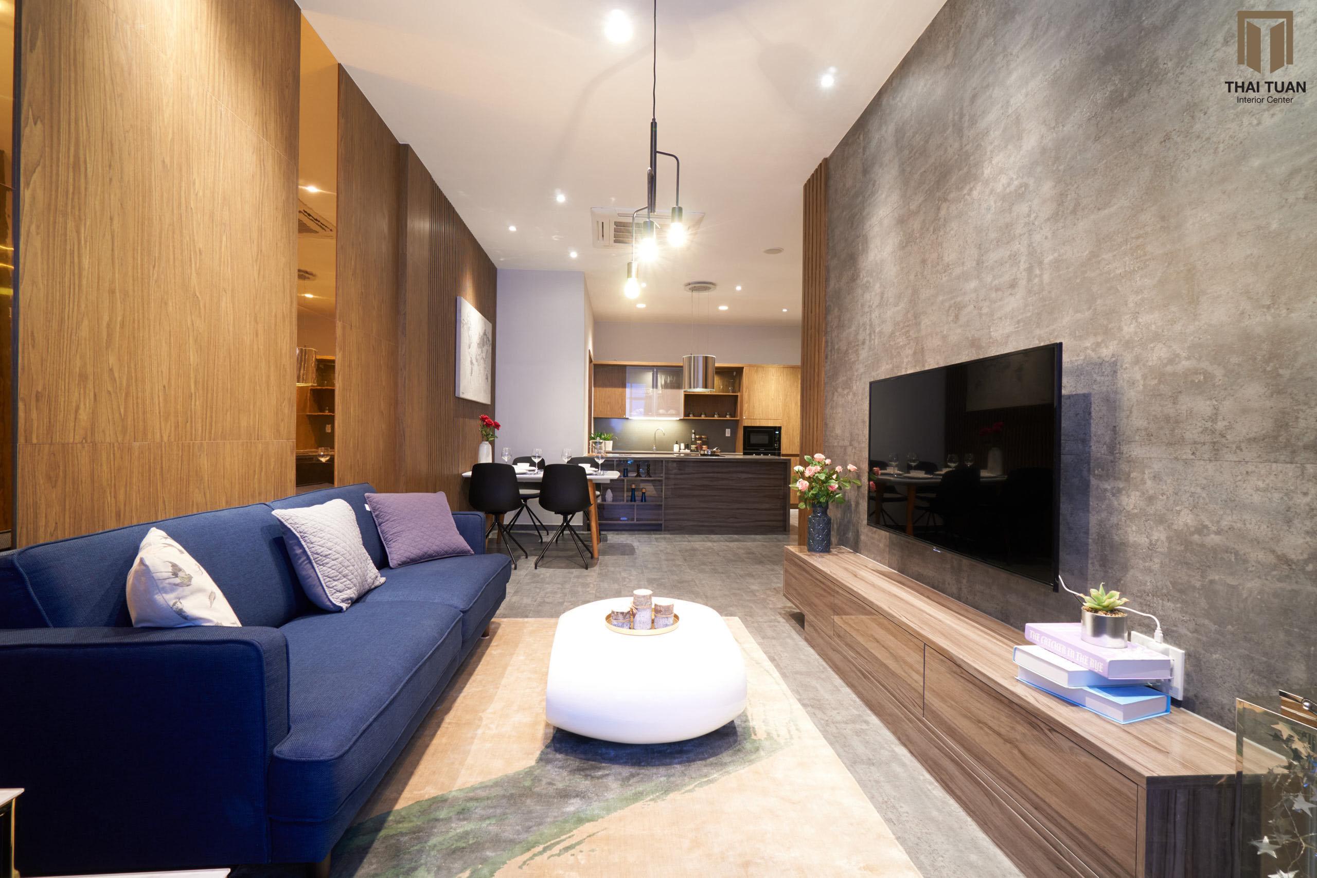 Từ view phòng khách vẫn có thể nhìn ra thiên nhiên và phòng bếp ăn, nhưng vẫn giữ được sự riêng tư