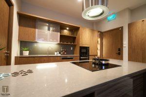 Các thiết bị bếp cao cấp được sử dụng, tạo nên sự sang trọng và bền vững