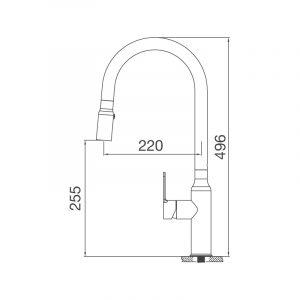 Vòi rửa chén K046-S