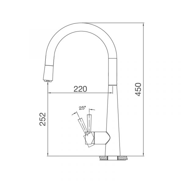Vòi rửa chén K095-S
