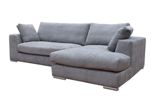 Sofa Amery góc phải vải Holly màu xám 830000332 2