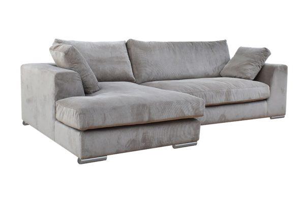 Sofa Amery góc phải vải wind màu be 830000333 2