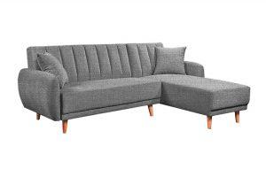 Sofa góc phải Bellemont màu xám cát 2