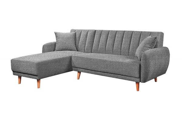 Sofa góc trái Bellemont màu xám cát 1