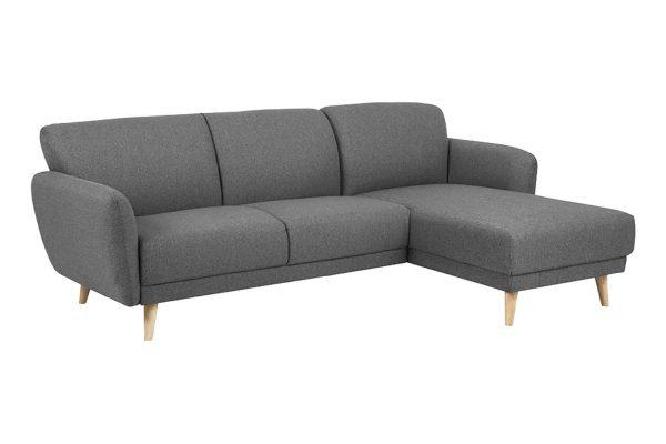 Sofa góc phải Ditte màu xám 2
