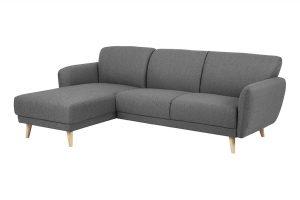Sofa góc trái Ditte màu xám 1